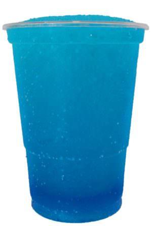 Blå slush ice